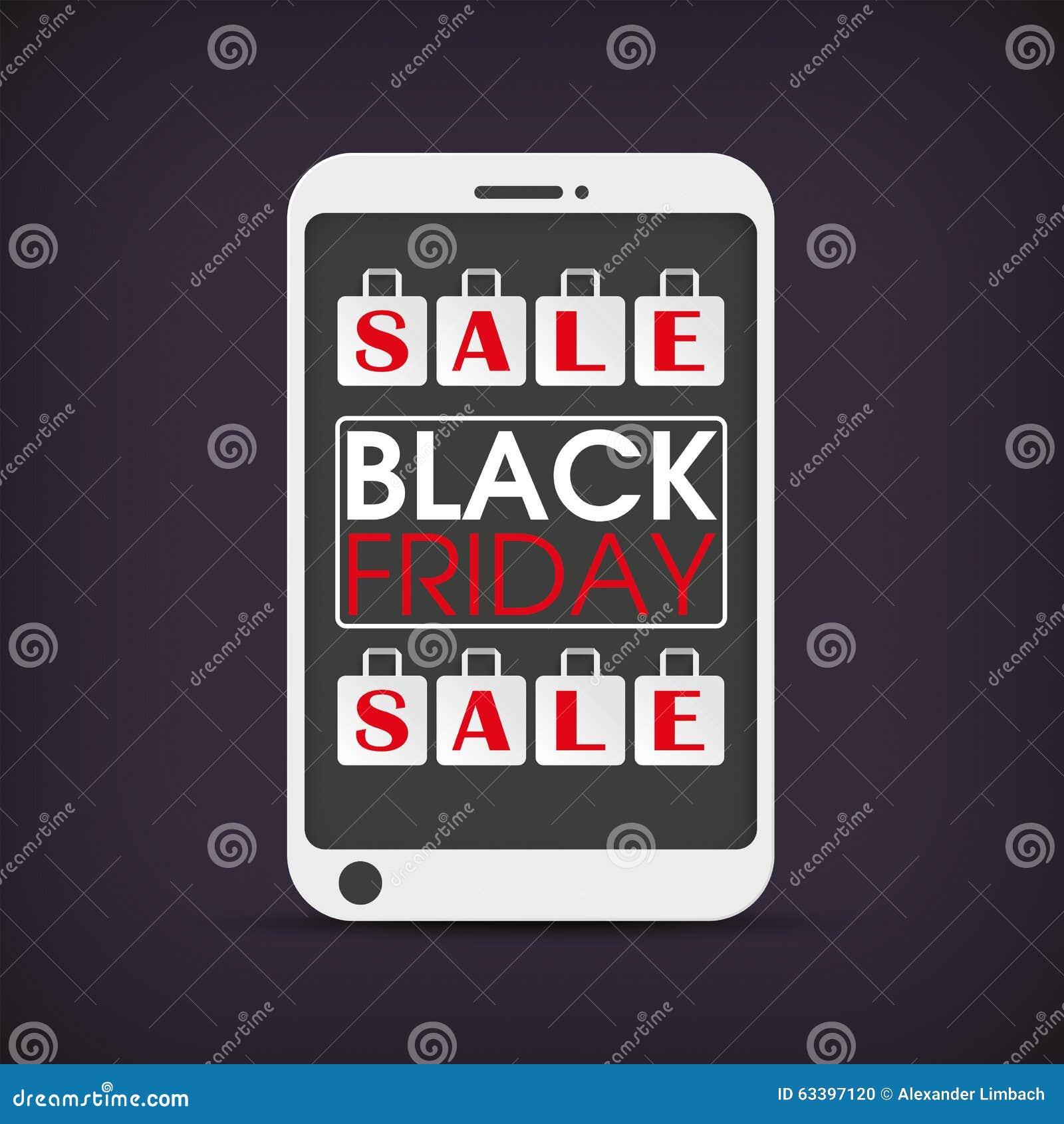 sacos de compras black friday de smartphone ilustra o do vetor imagem 63397120. Black Bedroom Furniture Sets. Home Design Ideas