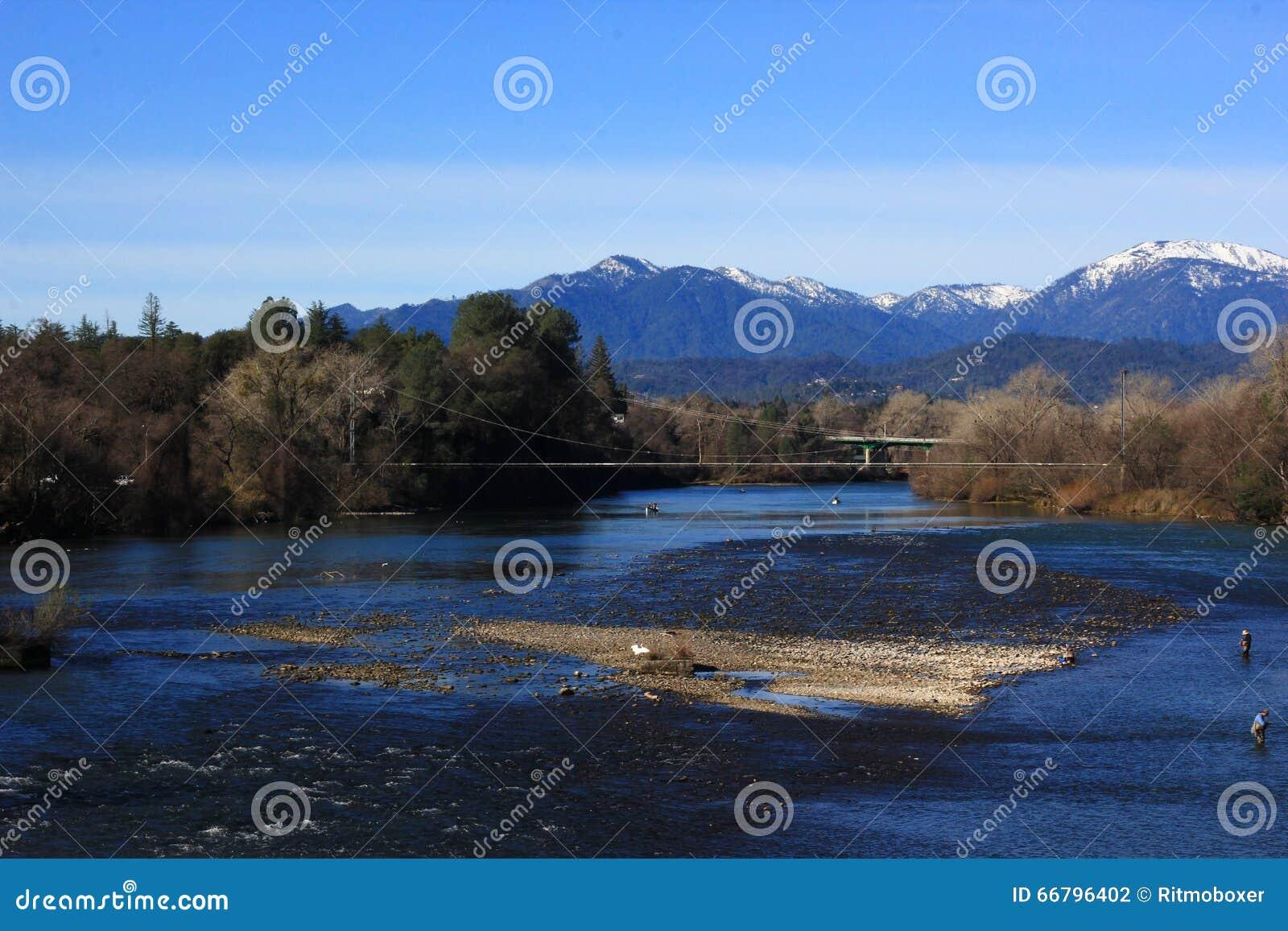 Sacramento River View In Redding California Stock Photo Image Of