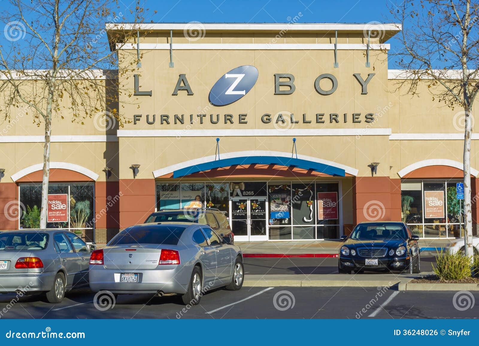 Sacramento usa december 21 la z boy store entrance on for Furniture stores sacramento