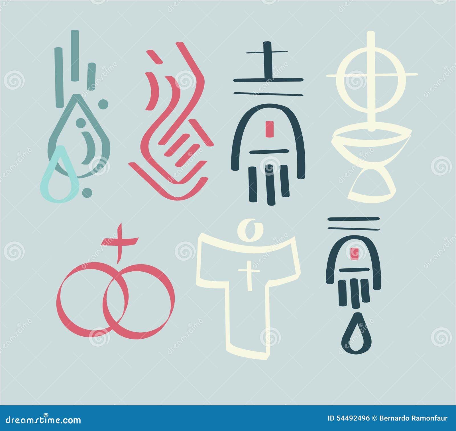 Sacraments stock vector illustration of baptism spiritual 54492496 sacraments biocorpaavc Image collections