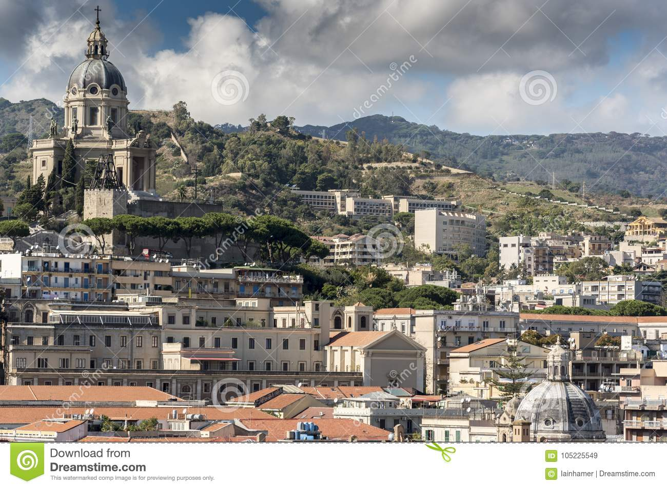 Sacrario Militare Cristo Re Messina Italy Stock Image - Image of messina,  harbor: 105225549