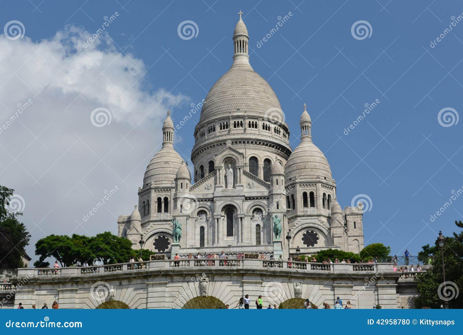 sacre coeur basilica paris france editorial image image of