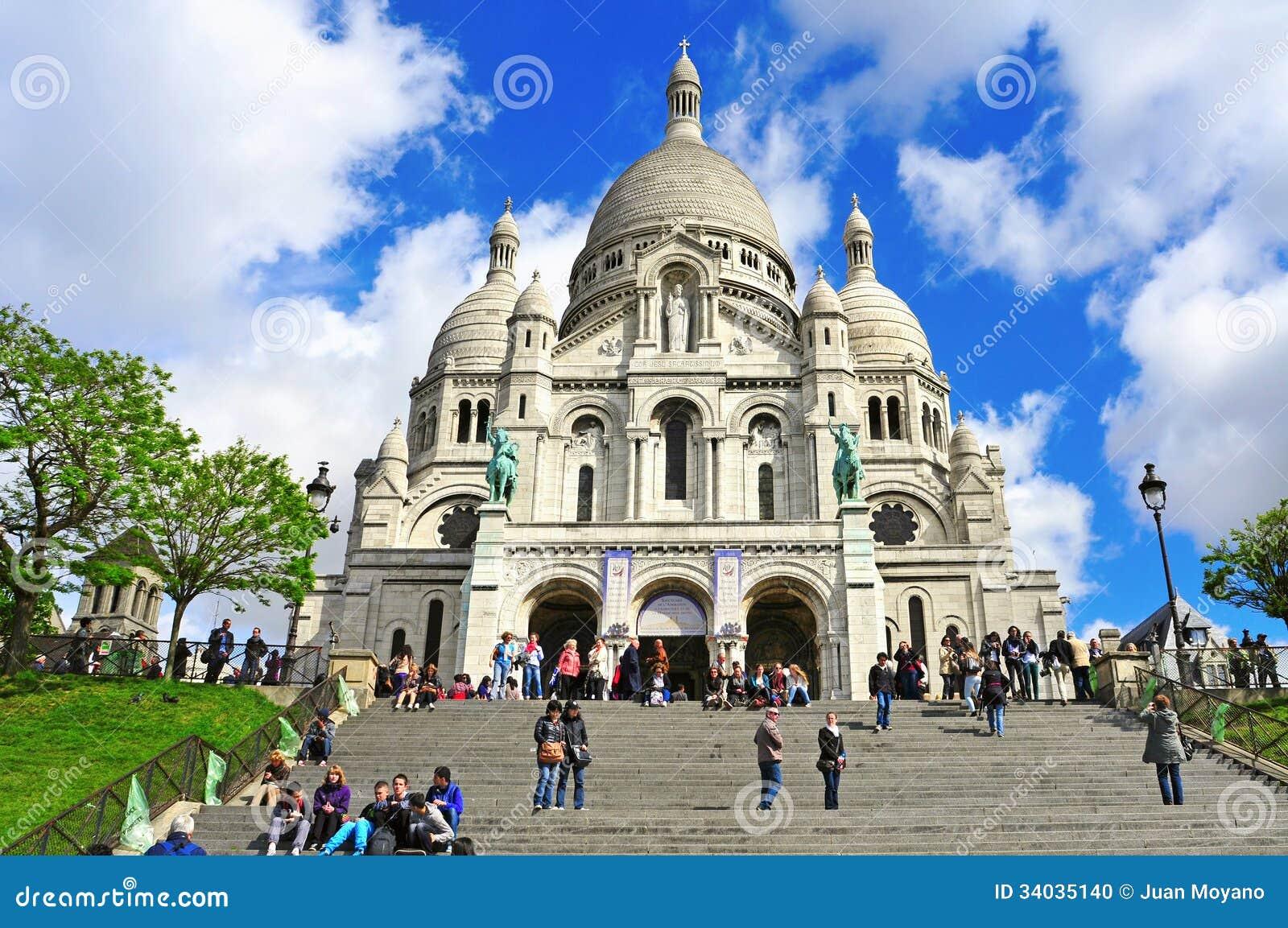 Sacre Coeur Basilica In Paris France Editorial Image Image 34035140