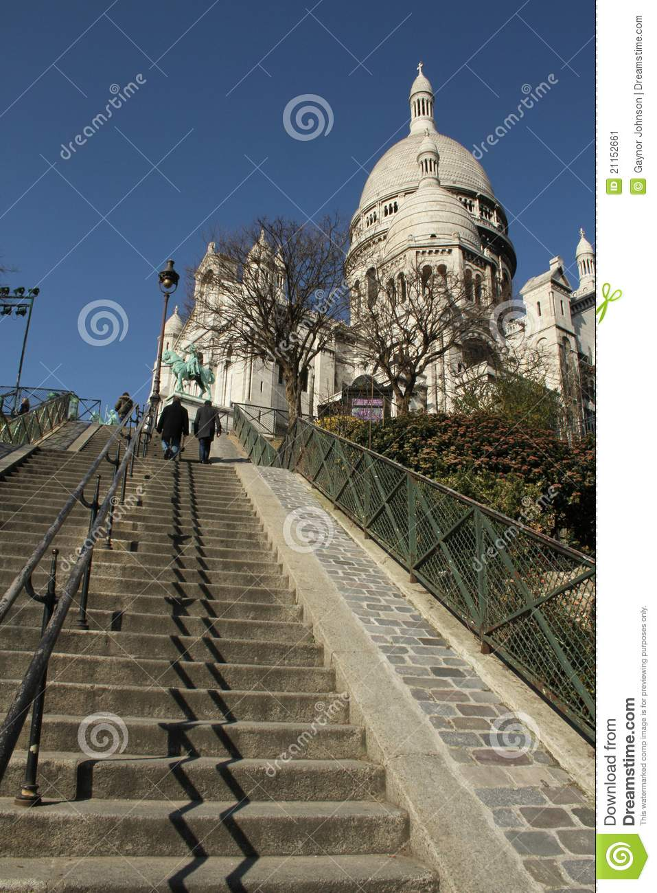 Sacre Coeur Cathedral and steps