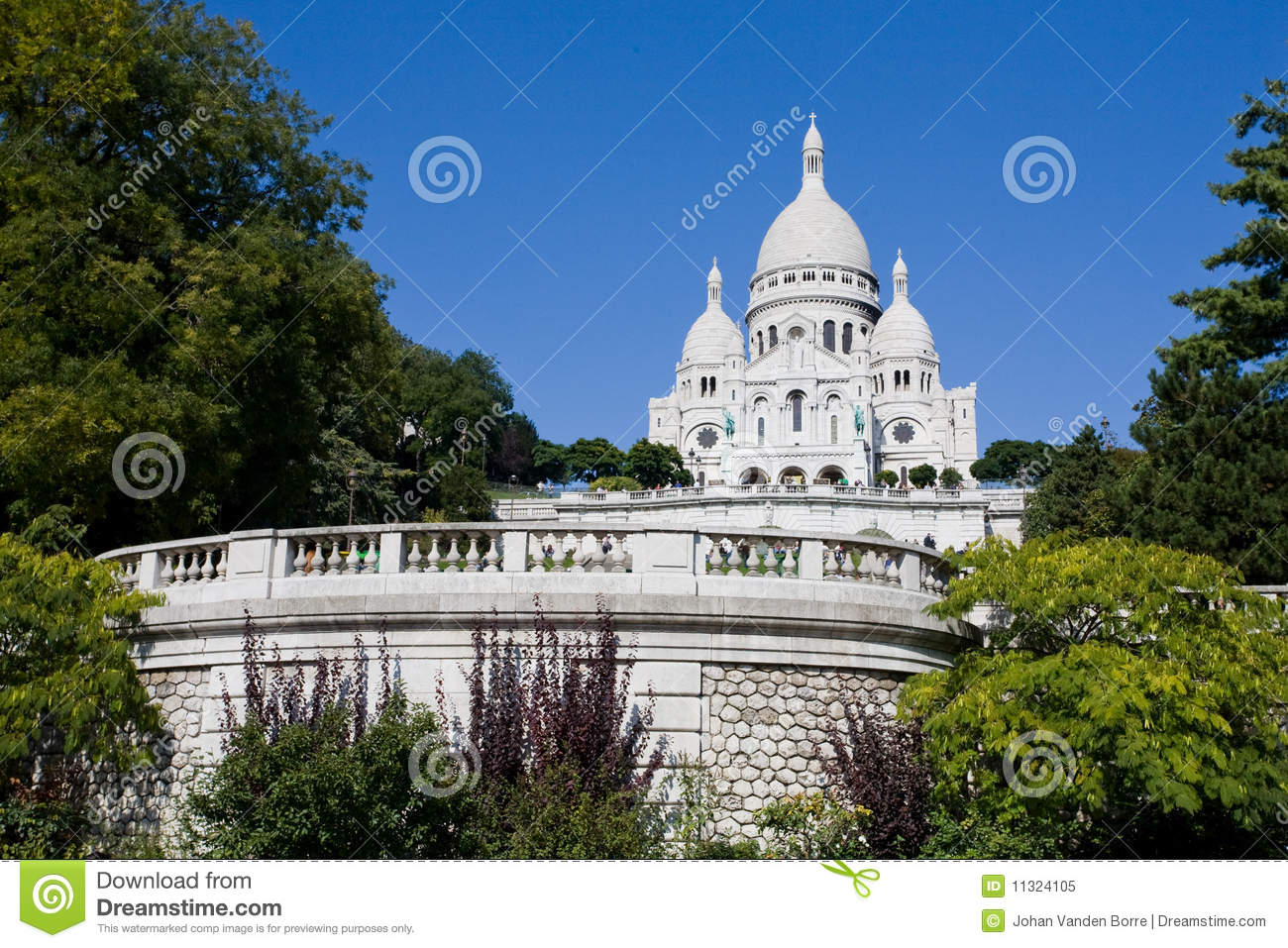 Sacre Coeur in Mont Martre, Paris