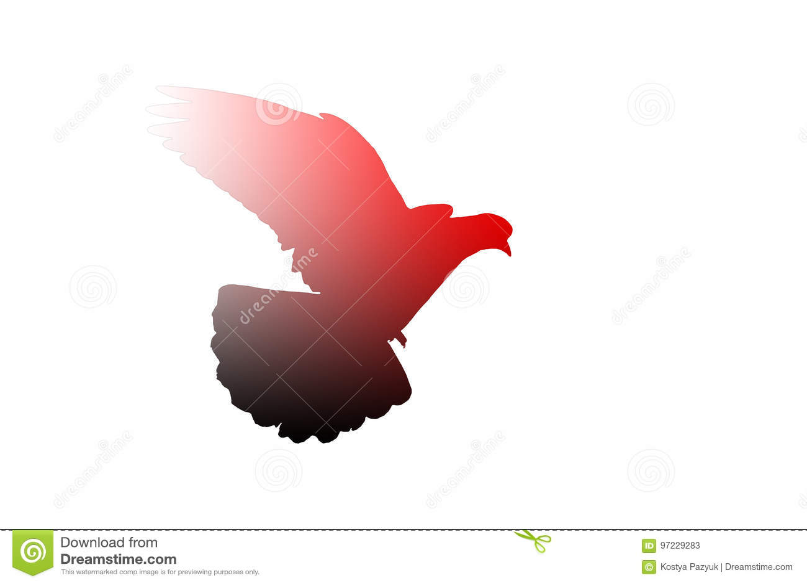 Sacred Bird Of Islam Stock Illustration Illustration Of Gulf 97229283