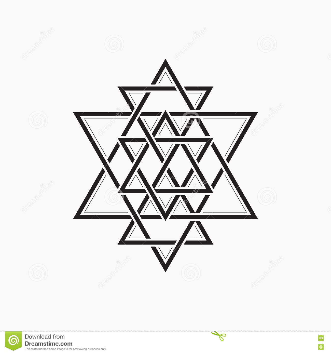 Sacred Geometry Abstract Symbol Of The Constitution