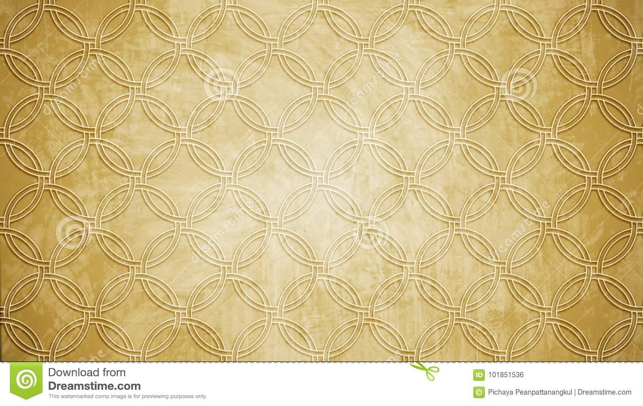 Sacred geometry circle stamp pattern shape on wall pattern texture.
