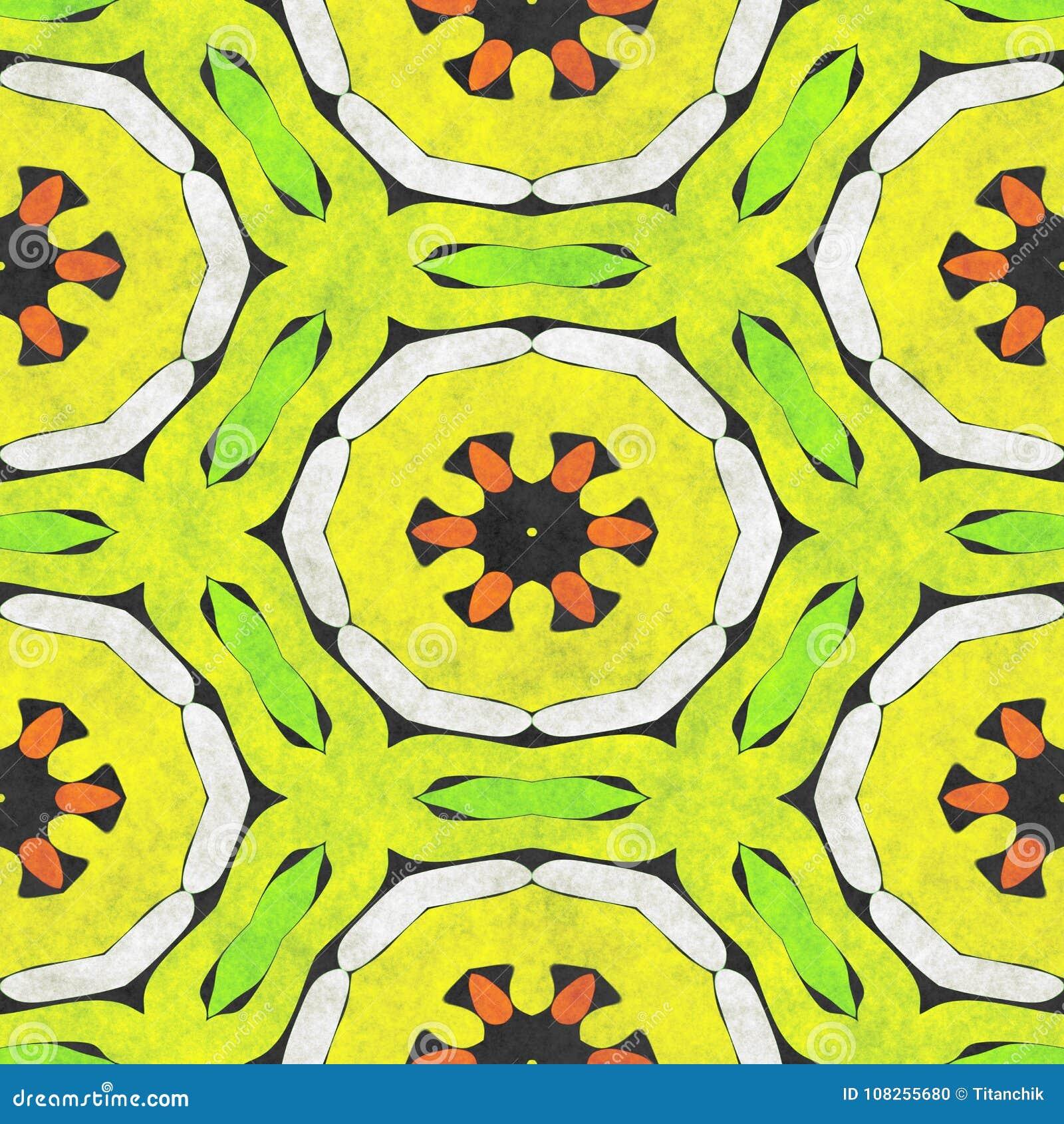 Abstract Fabric Pattern- Mosaic Illustration Stock Illustration ...
