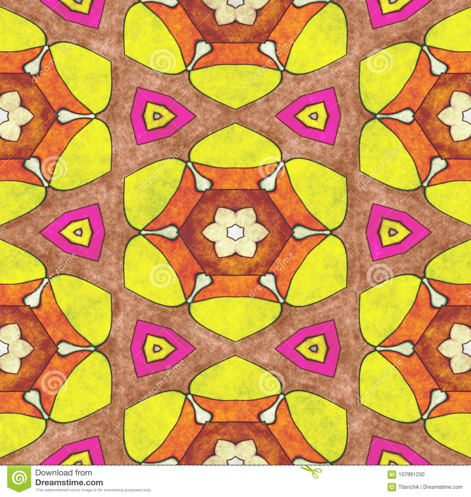 Abstract Geometry- Mosaic Illustration Stock Illustration ...