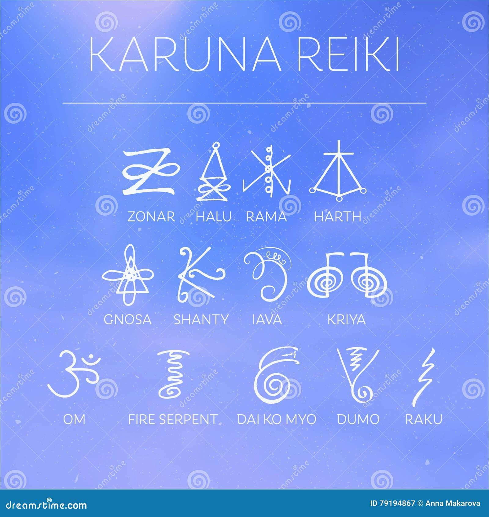 Sacred Geometry Reiki Symbol Stock Illustration Illustration Of