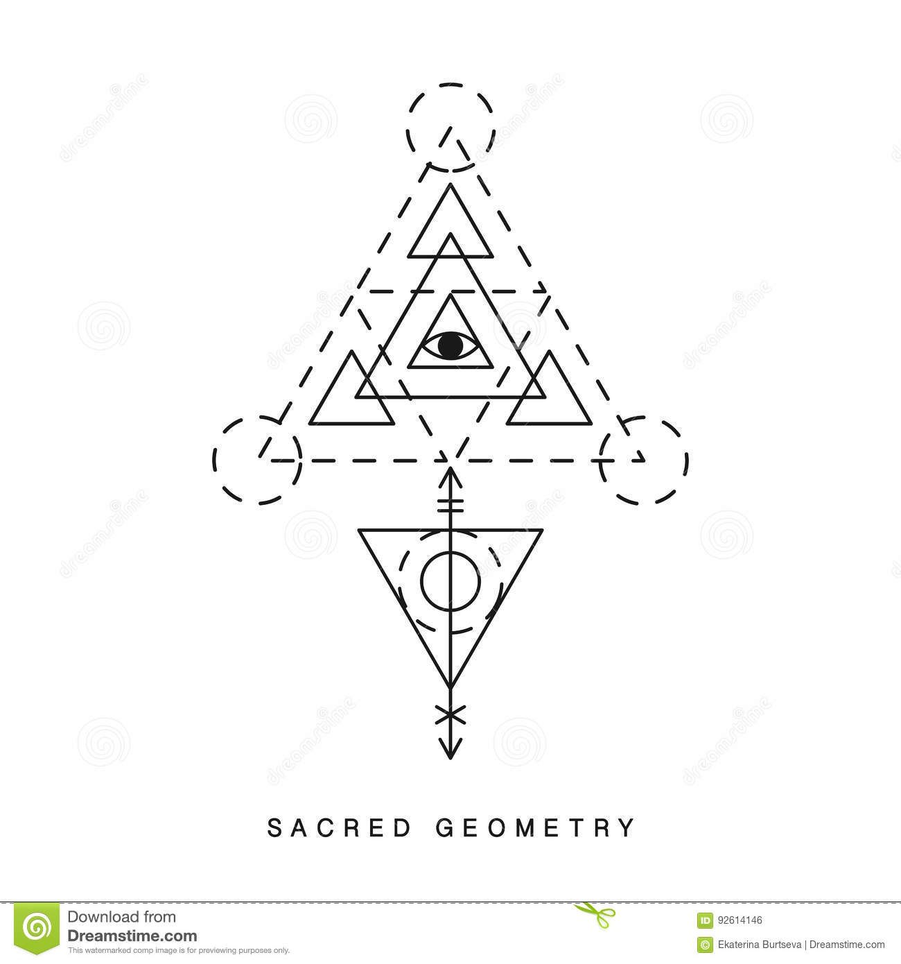 Alchemical Diagram Tattoos Schematic Wiring Ford Taurus Fuse Box Tattoo Sacred Geometry Sign Stock Vector Illustration Of Rh Dreamstime Com Sun Etching Symbol