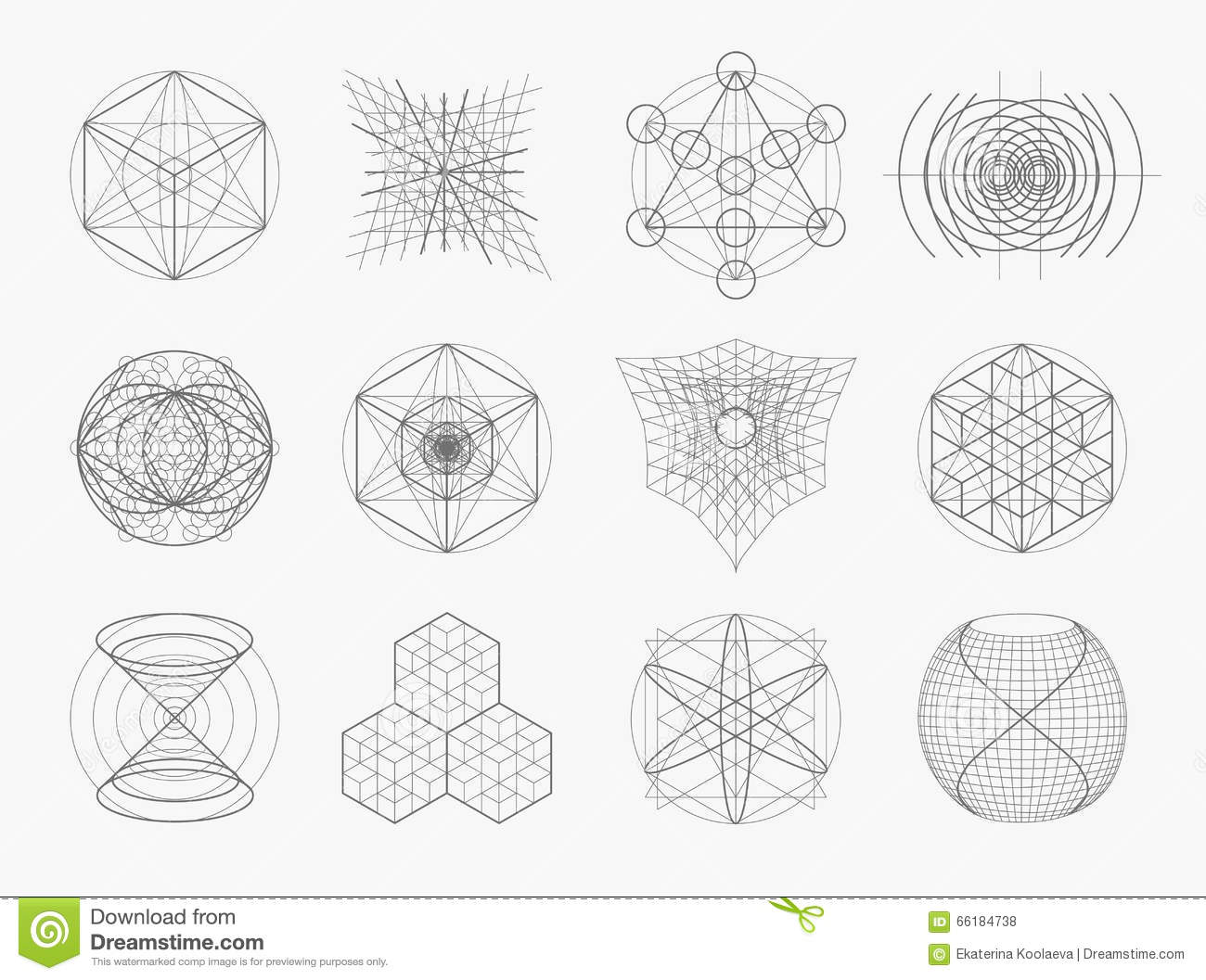 Sacred geometry symbols and elements set stock vector sacred geometry symbols and elements set buycottarizona