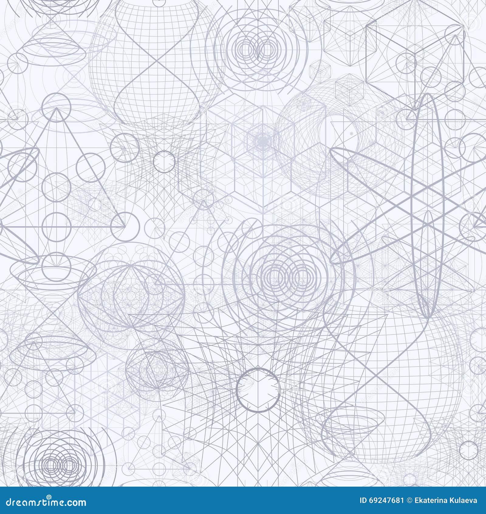 Sacred geometry symbols and elements wallpaper seamless pattern royalty free stock photo biocorpaavc
