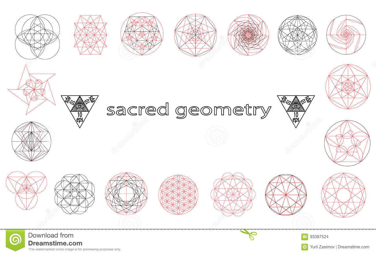 Sacred geometry symbols and signes vector illustration hipster sacred geometry symbols and signes vector illustration hipster tattoo flower of life symbol ethnic crystal buycottarizona