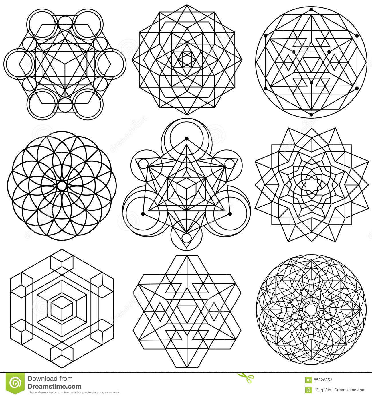 Sacred geometry symbols vector set 04 stock vector sacred geometry symbols vector set 04 buycottarizona