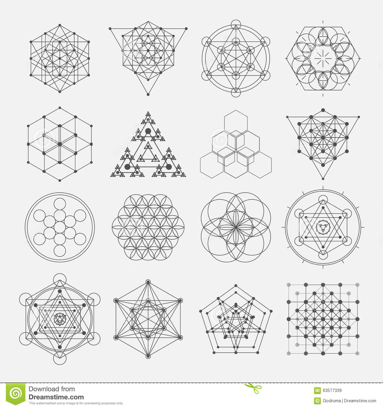 Flower of life development stock vector illustration of esoteric sacred geometry vector design elements alchemy royalty free stock images biocorpaavc
