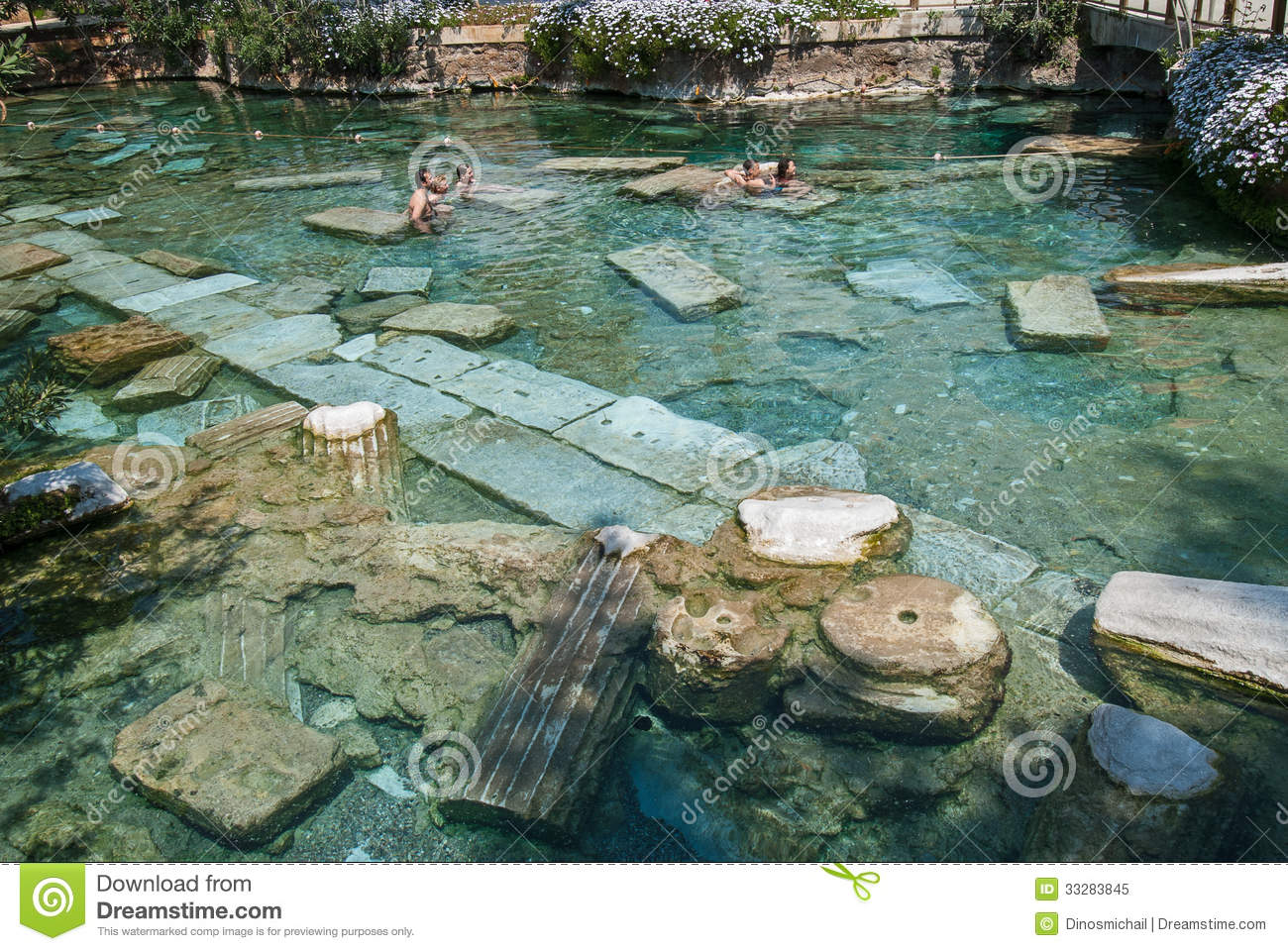 The Sacred Pool In Pamukkale Turkey Editorial Image
