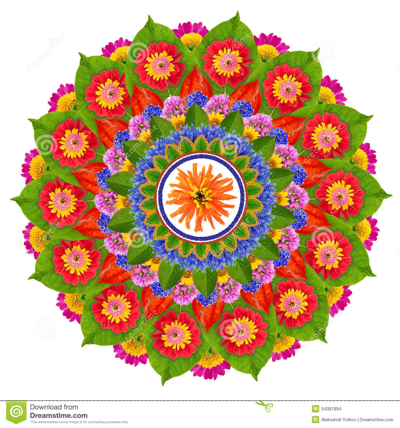 Sacred Sun Lotus Mandala Stock Photo