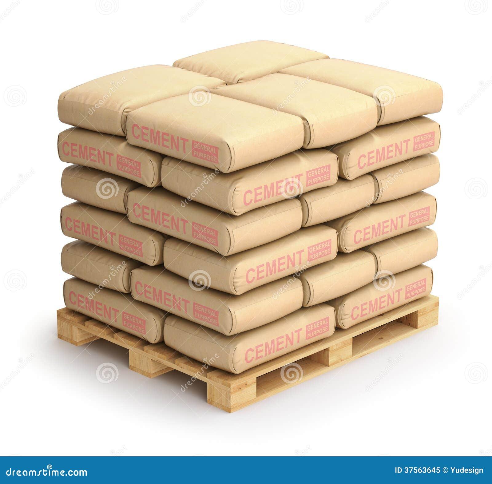 sacs ciment photo libre de droits image 37563645. Black Bedroom Furniture Sets. Home Design Ideas