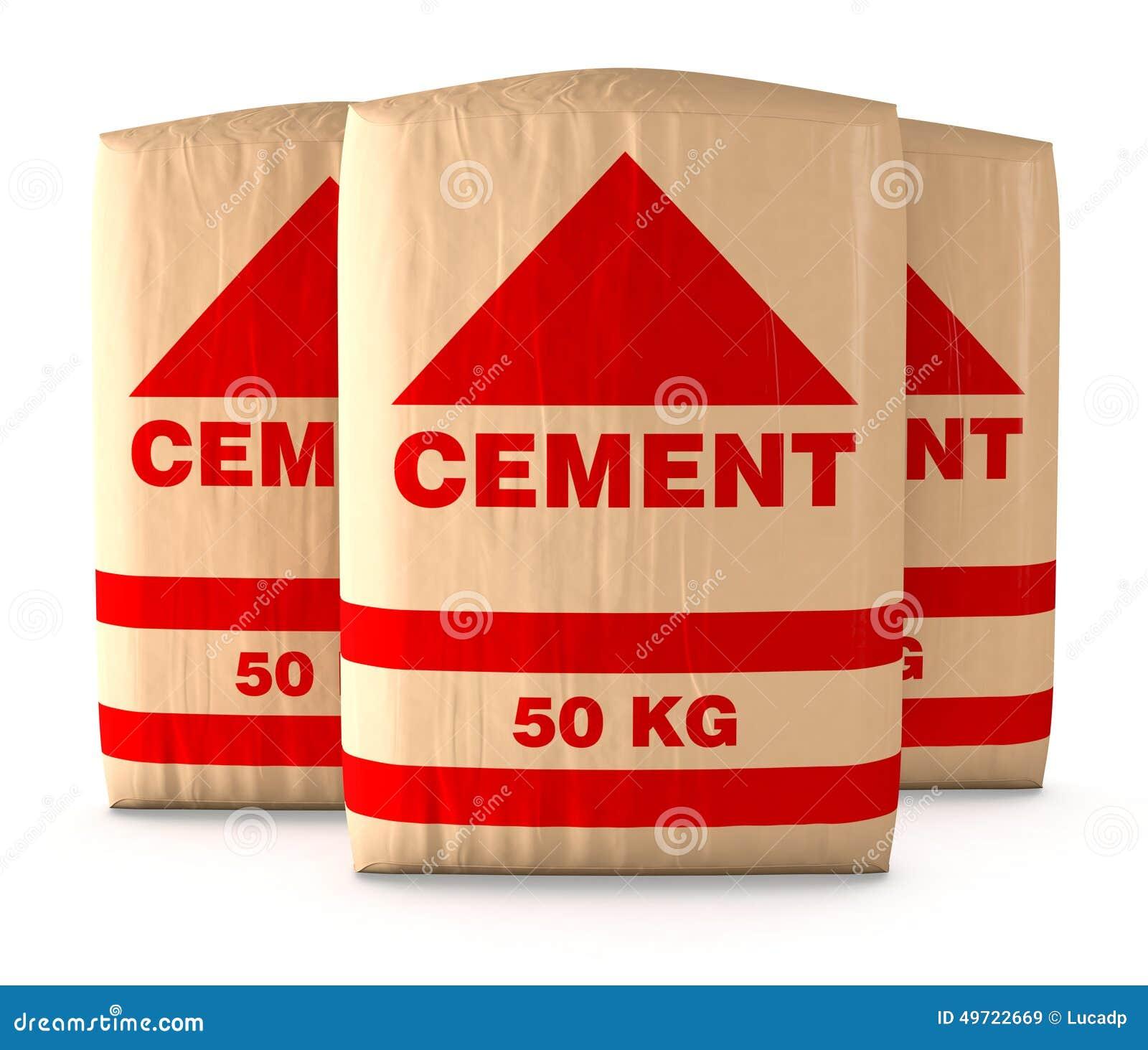 sacs de ciment illustration stock image du fond signe 49722669. Black Bedroom Furniture Sets. Home Design Ideas