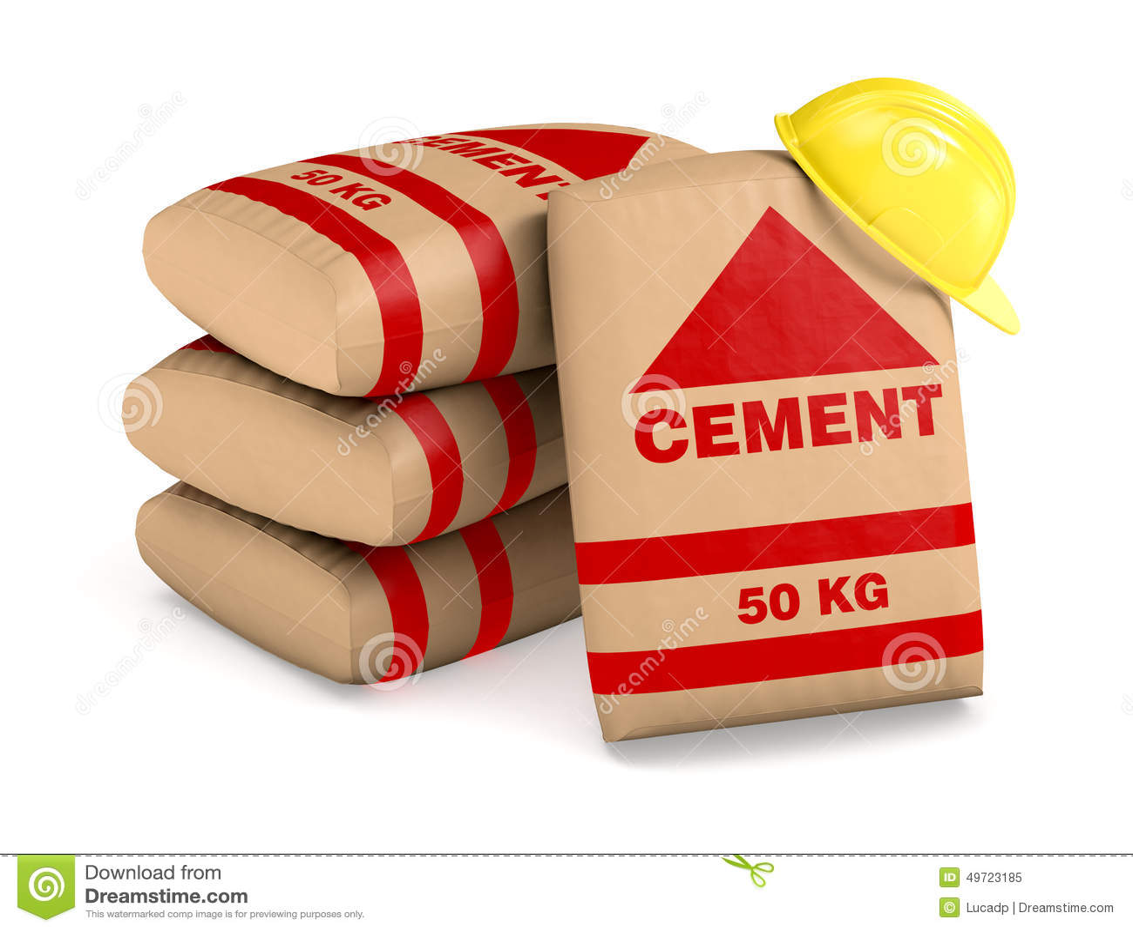 sacs de ciment illustration stock illustration du closeup 49723185. Black Bedroom Furniture Sets. Home Design Ideas