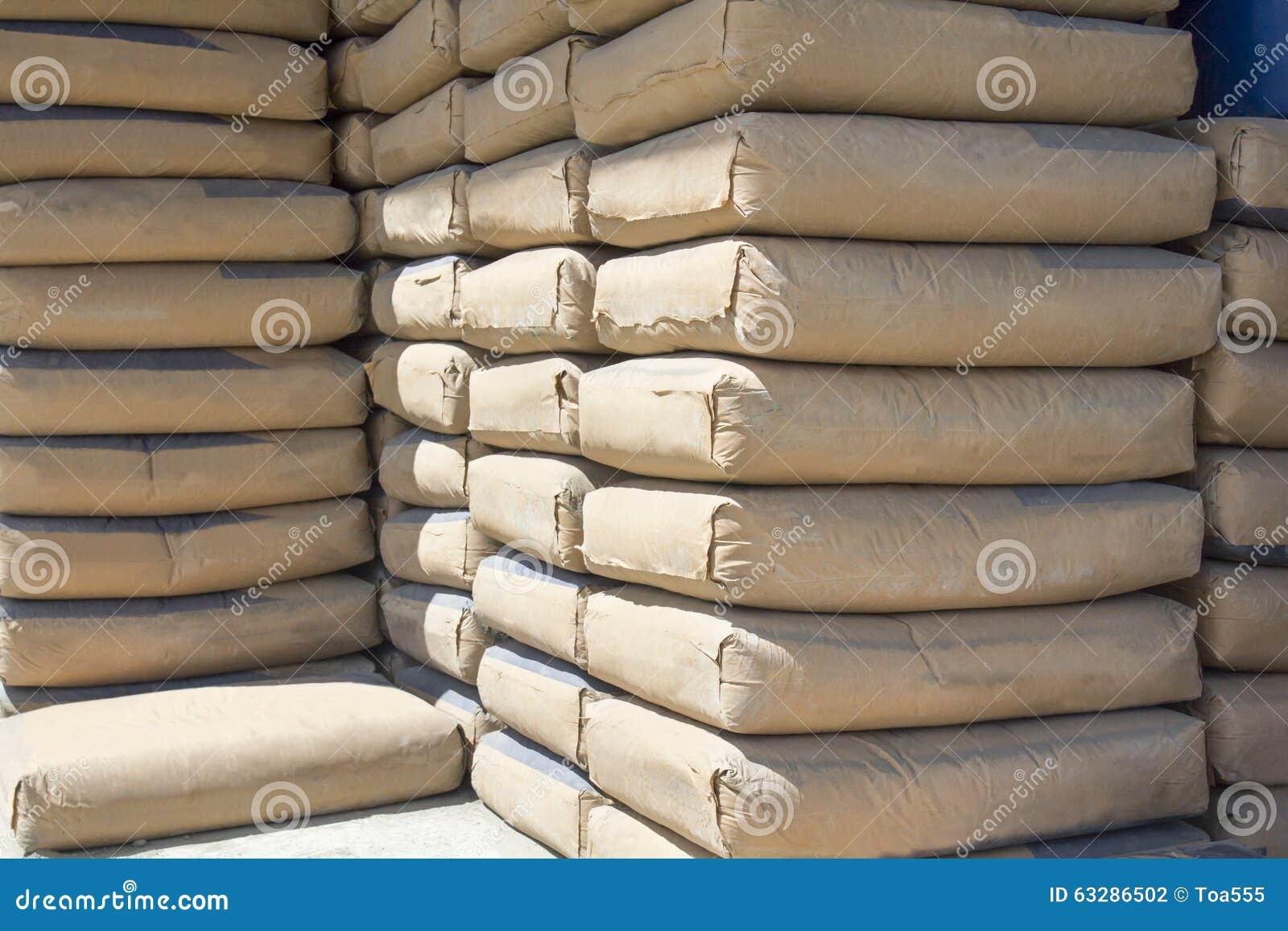 sacs de ciment photo stock image du lignes site poudre 63286502. Black Bedroom Furniture Sets. Home Design Ideas