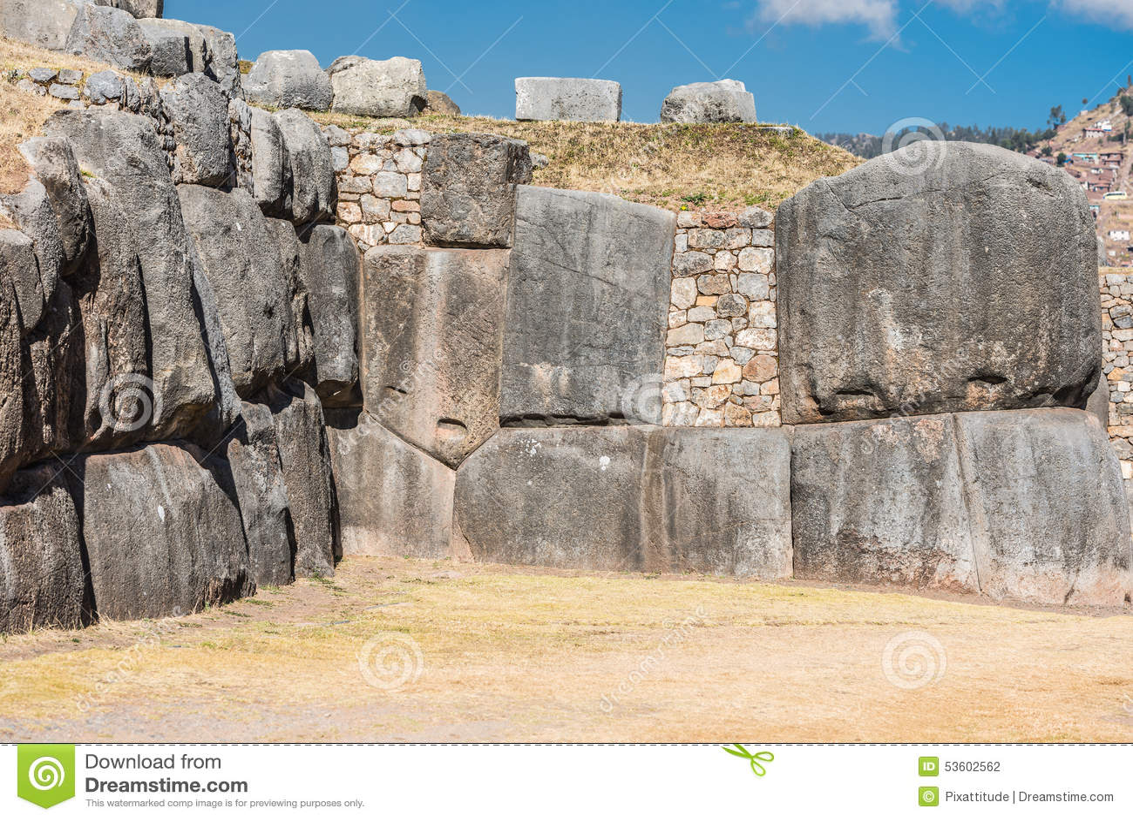 Sacsayhuaman ruine les Andes péruviens Cuzco Pérou