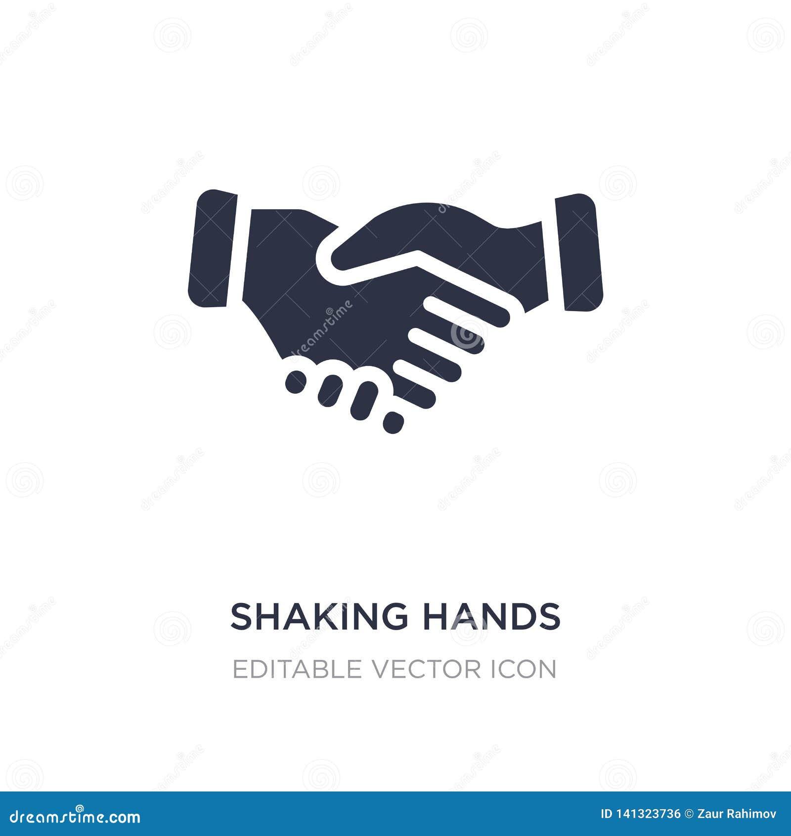 Sacudida del icono de las manos en el fondo blanco Ejemplo simple del elemento del concepto del negocio