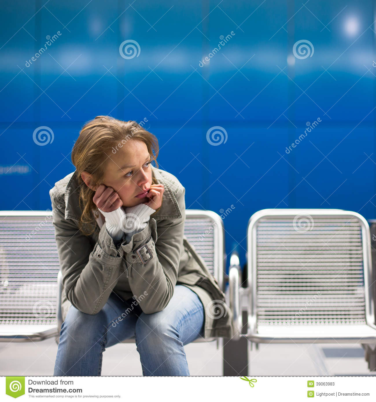 Sad And Alone: Sad And Alone In A Big City Stock Photo