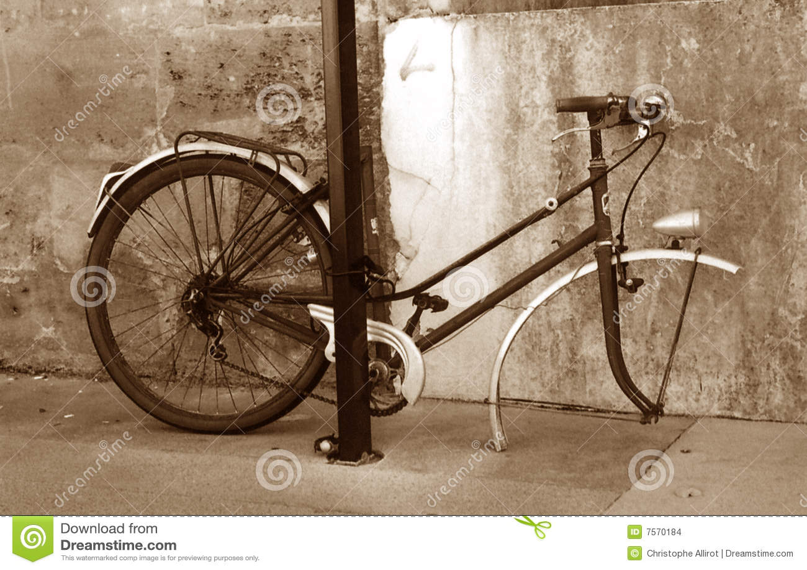 The sad bike in sepia