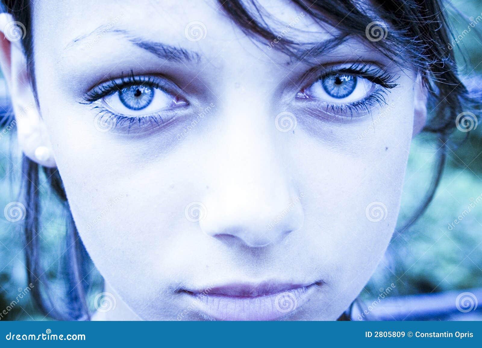 sad blue eyes royalty free stock images image 2805809. Black Bedroom Furniture Sets. Home Design Ideas