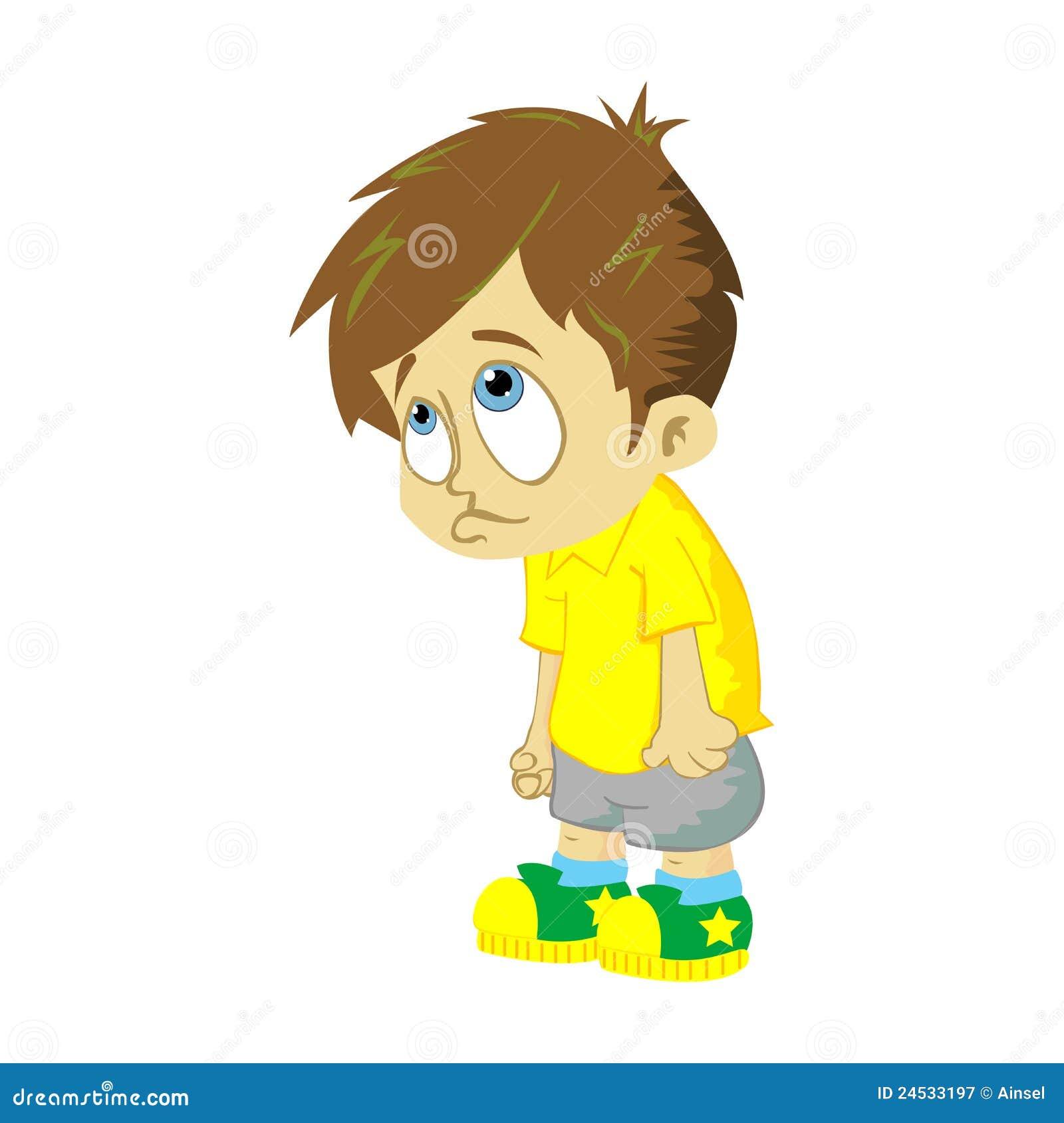 Sad Cartoon Boy Crying
