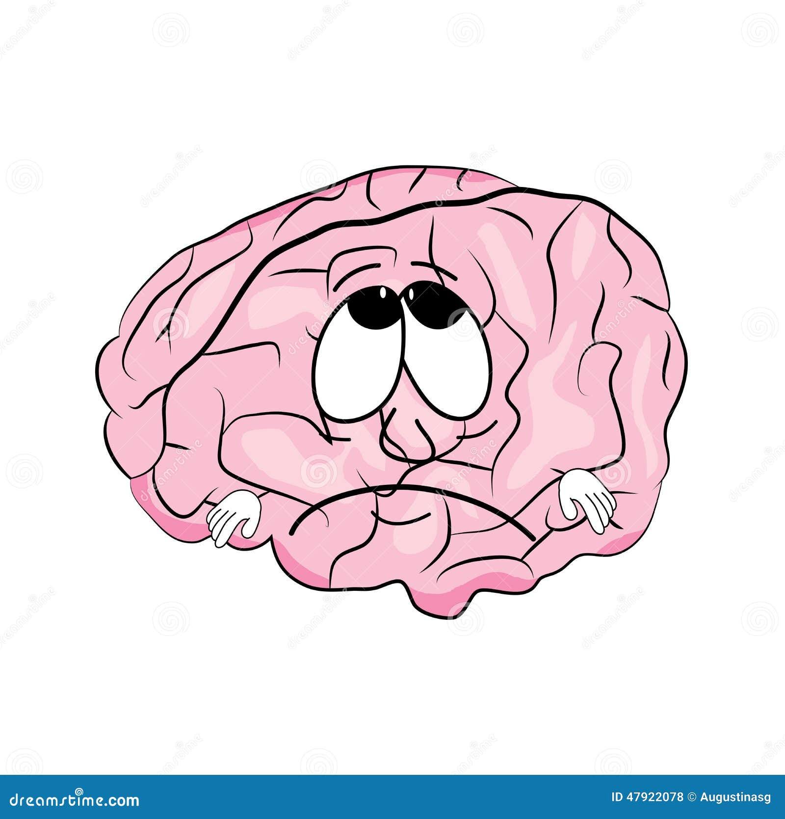 Sad Brain Cartoon Stock Illustration Image 47922078
