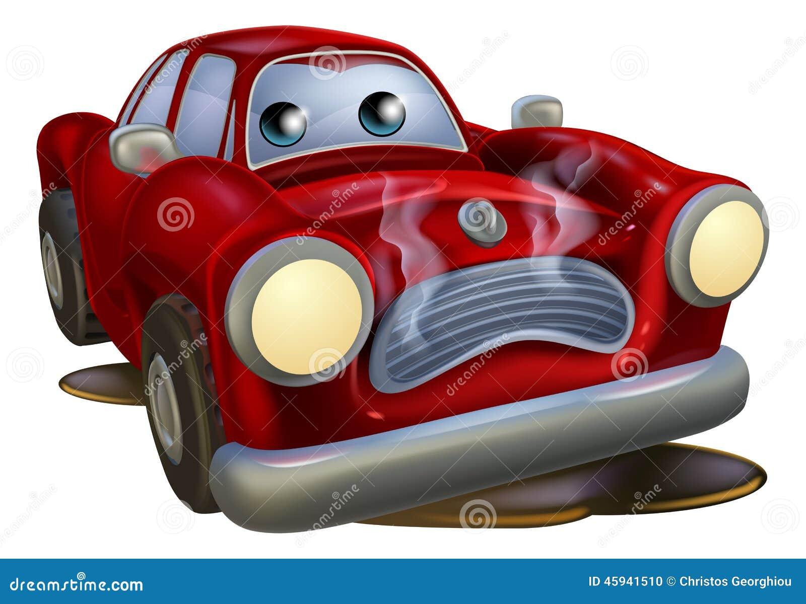 Majestic Car Wash >> Sad Broken Down Cartoon Car Stock Vector - Image: 45941510