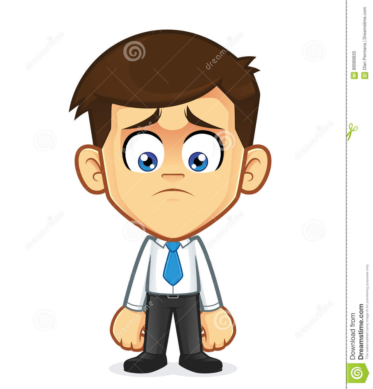 Sad Businessman Gesturing Stock Vector Illustration Of Cartoon