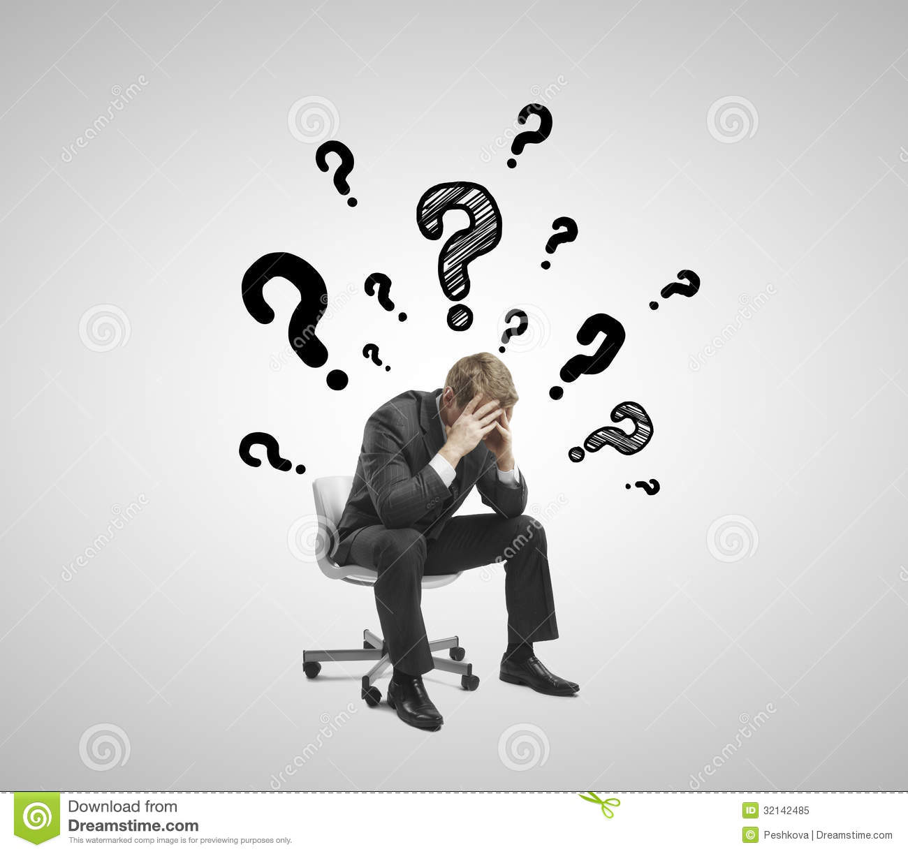 Sad Businessman Royalty Free Stock Photo - Image: 32142485