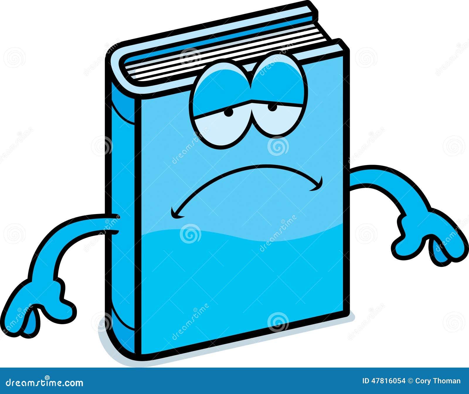 sad cartoon book stock vector illustration of vector frown mouth clipart Frown Mouth Clip Art