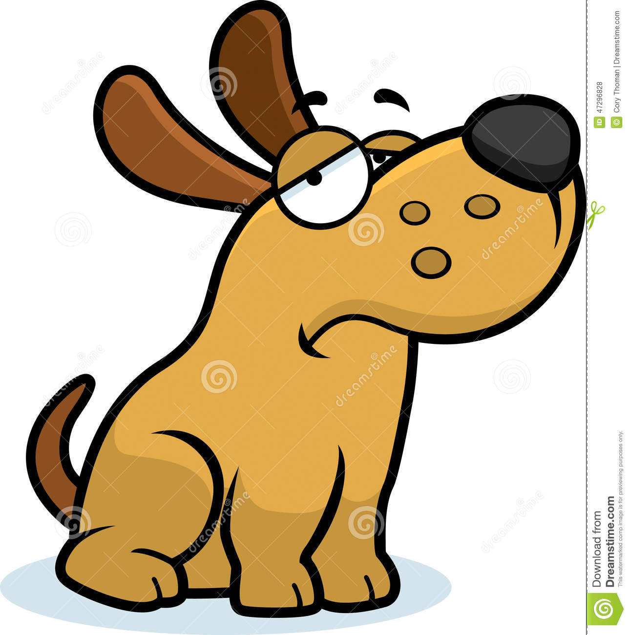 sad cartoon dog stock vector illustration of vector 47296828 rh dreamstime com depression black dog cartoon sad dog cartoon character