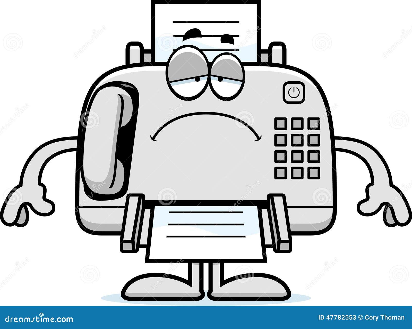 Sad Cartoon Fax Machine Stock Vector - Image: 47782553