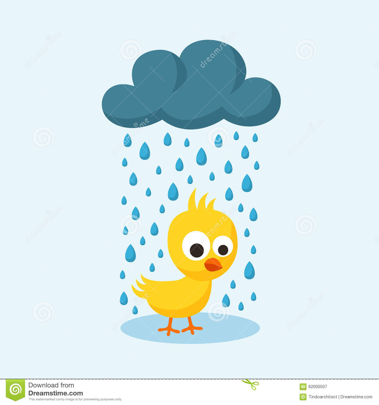 sad chick in the rain on friday the 13th stock vector friday the 13th clip art for kids friday the 13th clip art images