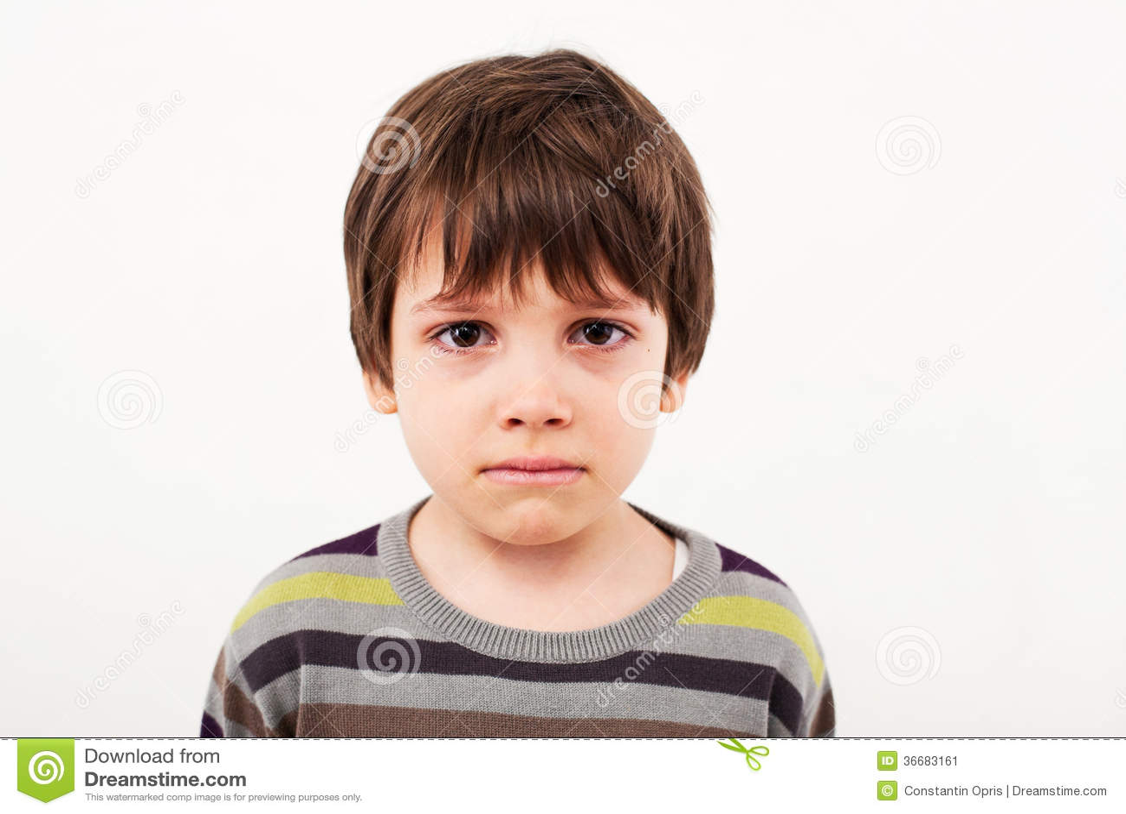 Sad Child Face Stock Image - Image: 36683161