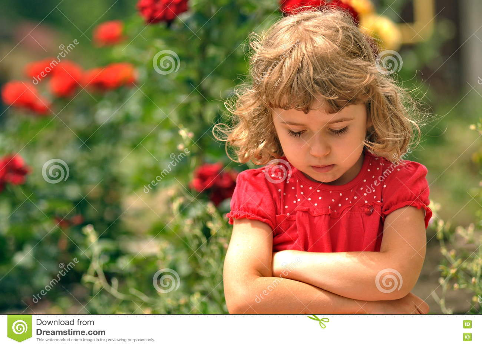 Sad child stock image. Image of beautiful, sorry ...