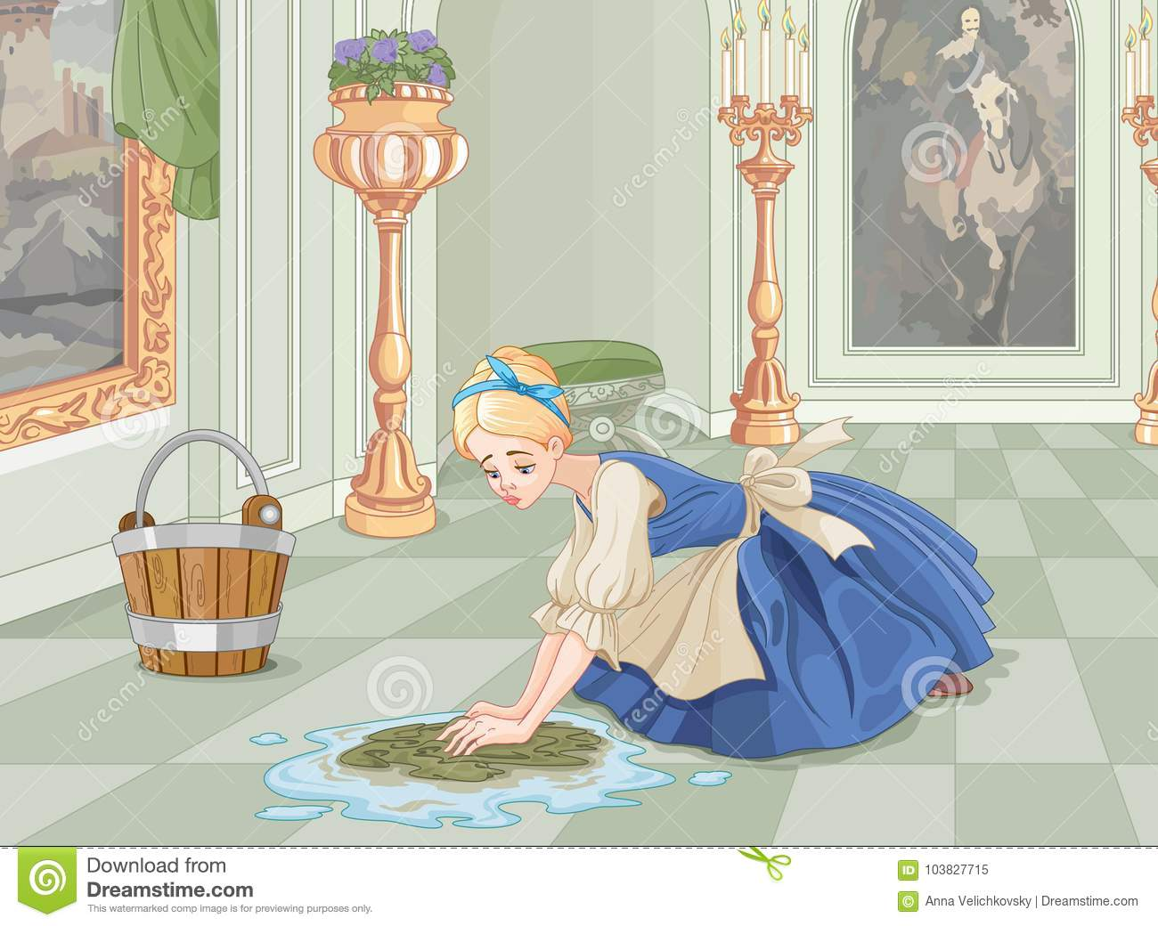 Cinderella Cleaning Stock Illustrations 77 Cinderella Cleaning