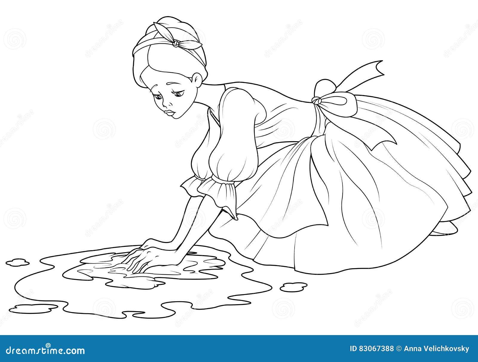 Sad cinderella wash the floor stock vector illustration 83067388 sad cinderella wash the floor voltagebd Gallery