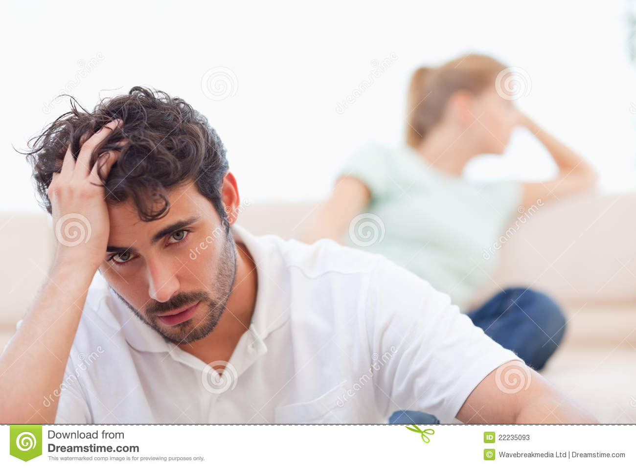 Sad Couple Mad At Each Other Stock Photos Image 22235093