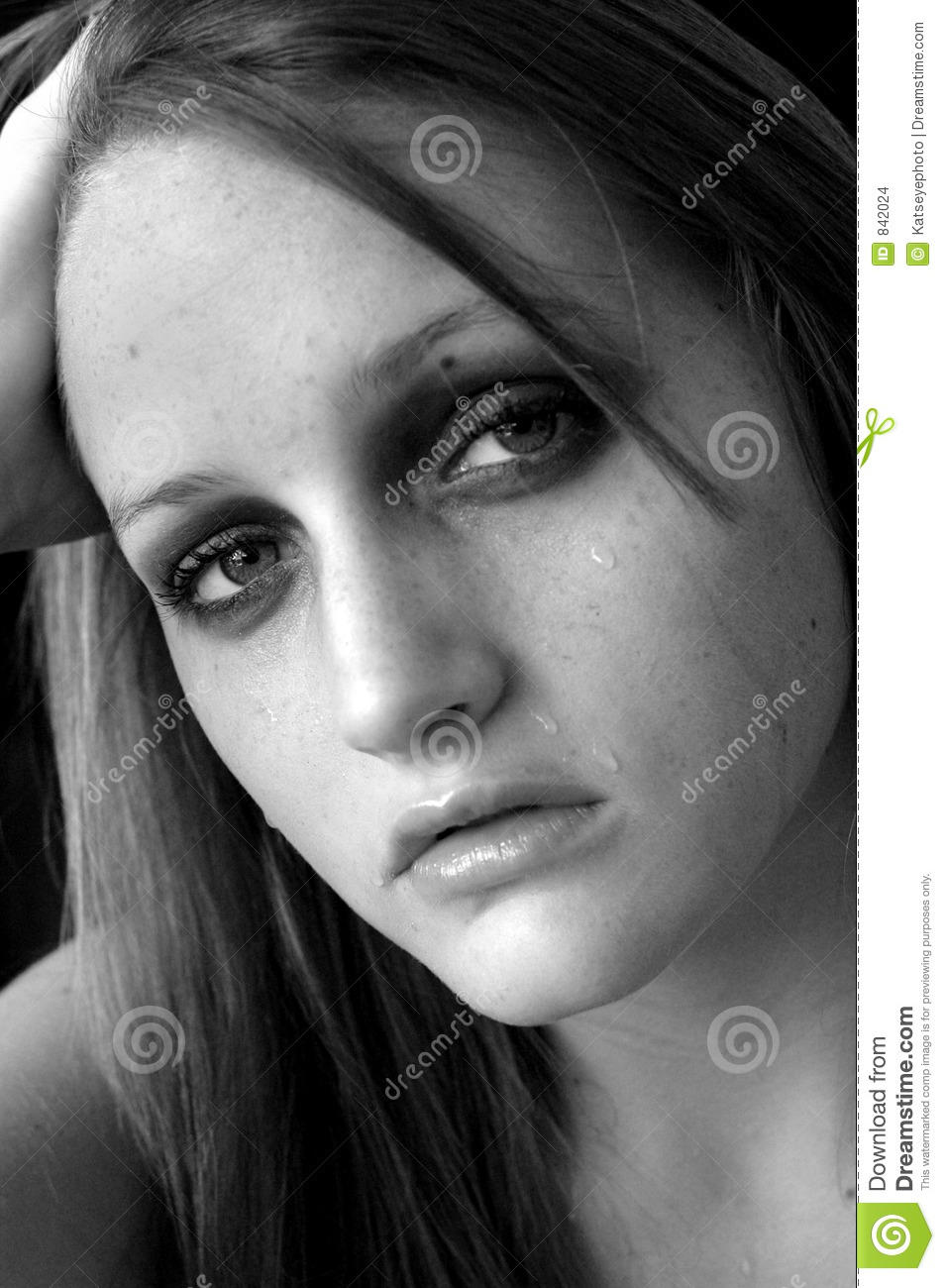 Sad and crying stock photo image of person girl people - Sad girl pictures crying ...
