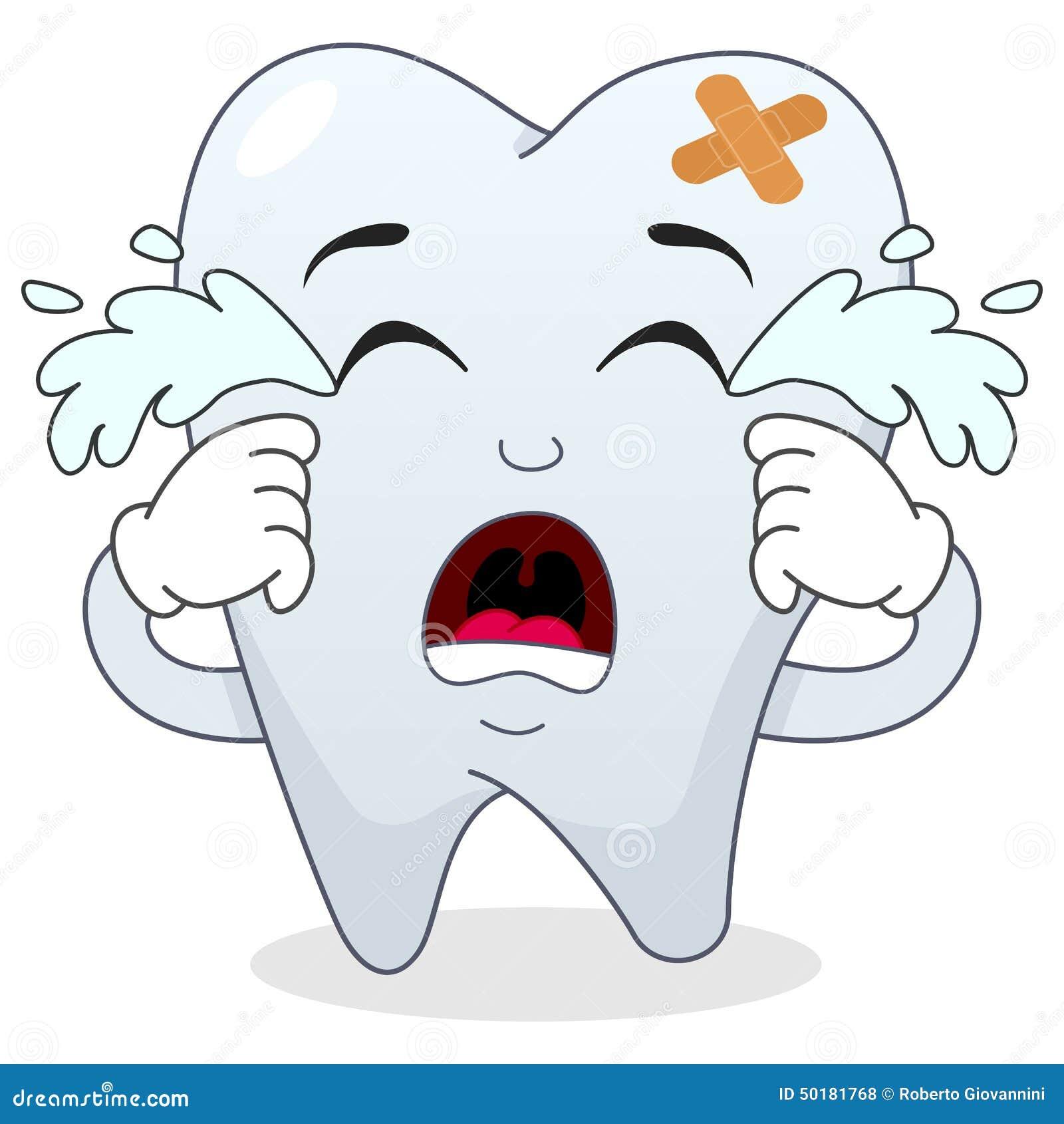 Sad Crying Sick Tooth Cartoon Character Stock Vector Image 50181768