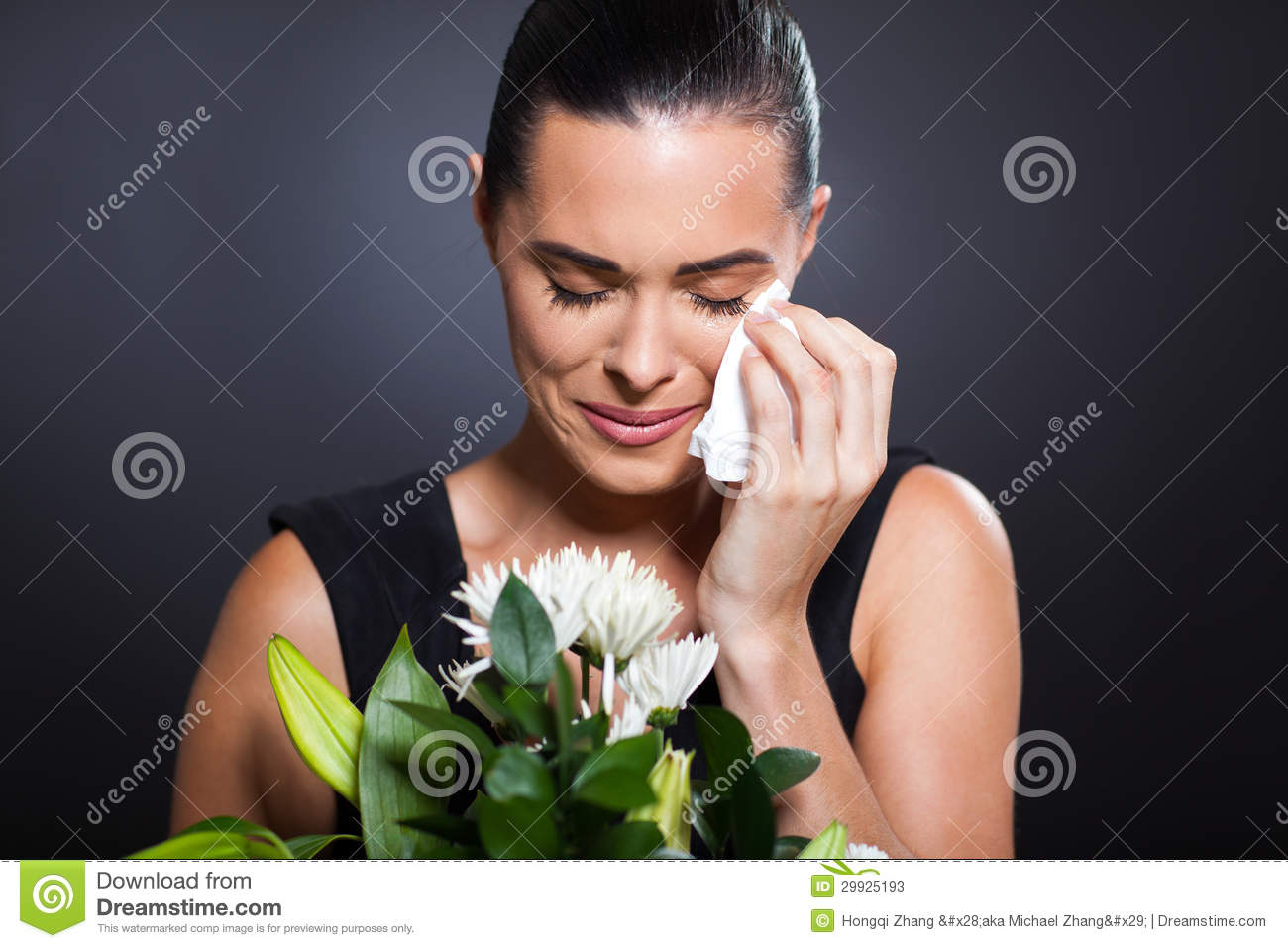 Crying Woman Funeral Stock Photos - Image: 29925193