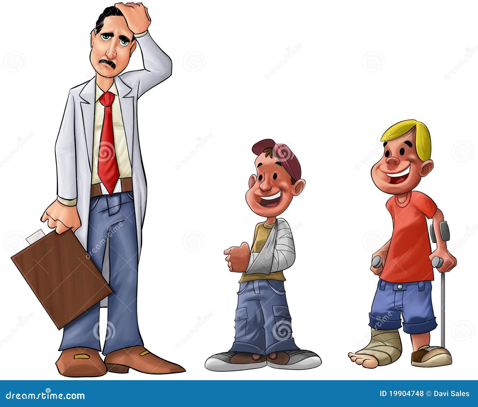 Sad doctor stock illustration. Image of bandage, accident ...